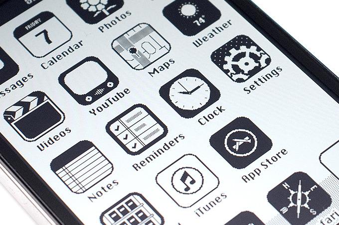 menu retro iPhone