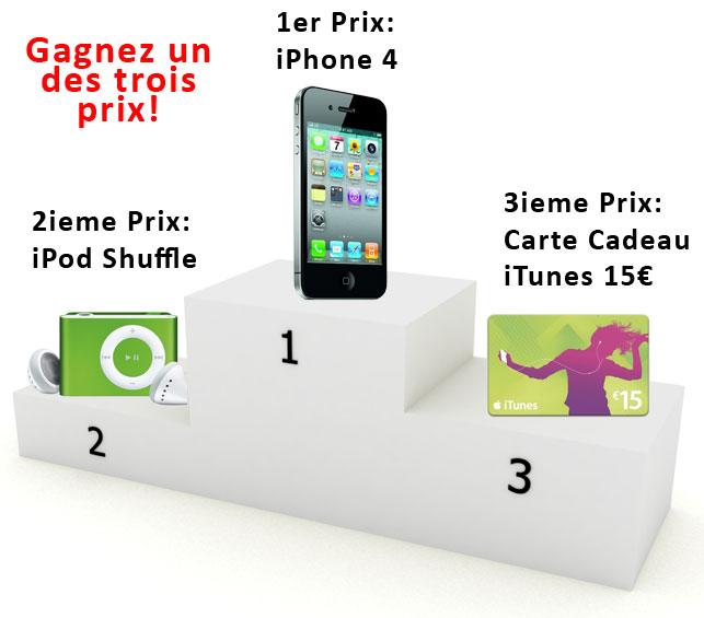 Gagnez un iPhone 4!