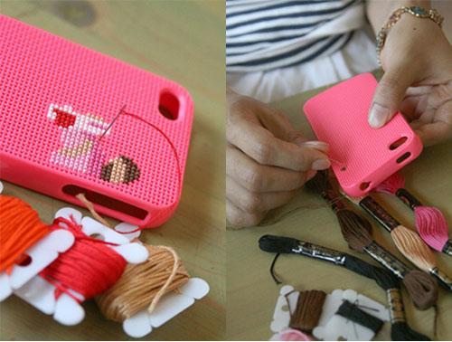 coque tricot pour iPhone