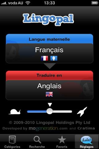 Lingopal pour iPhone